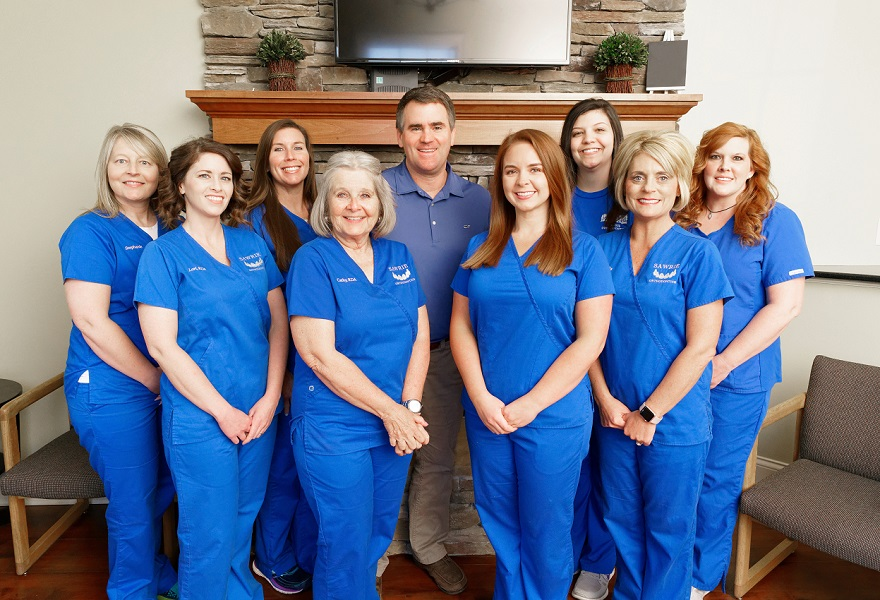The orthodontics team at Sawrie Orthodontics from Chattanooga, TN